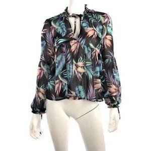 H&M palm print blouse.